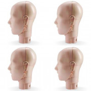 Jaw Thrust Head Assemblies for Prestan Adult Light Skin Manikin (4-Pack)