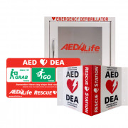 RescueStation AED Cabinet ( Compact ) and Sign Package