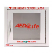 Surface Mount AED Cabinet with Alarm - Compact